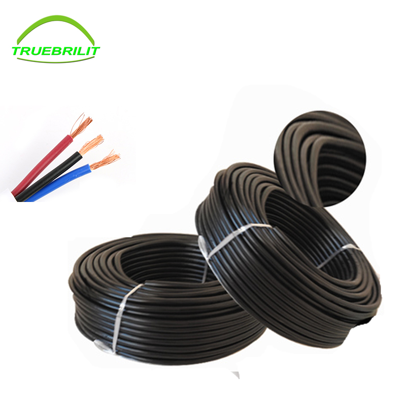 10M <font><b>3pin</b></font> waterproof electrical cable,18 AWG extend PVC led <font><b>wire</b></font> 0.75/2 image