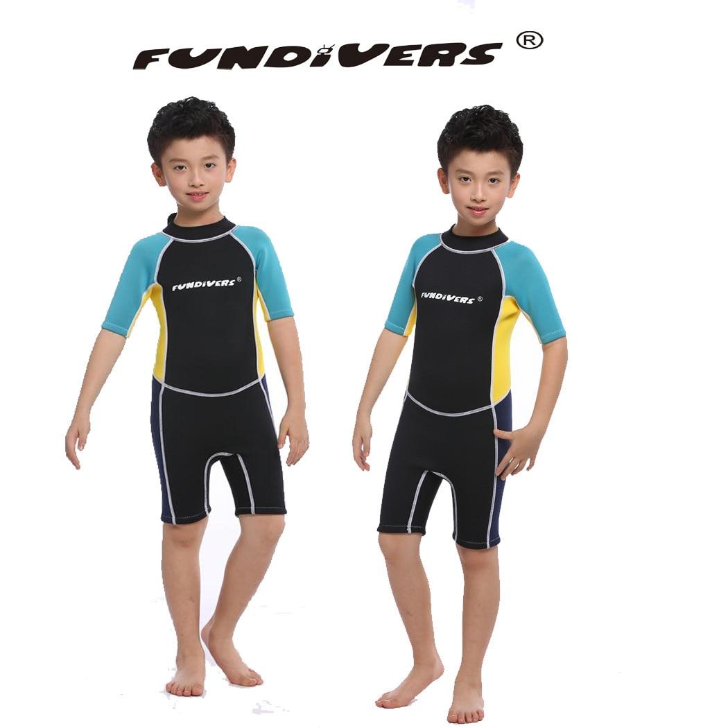 3mm néoprène Shorty enfants combinaison pour garçon éruption garde fille nager plongée sous-marine combinaison humide plongée en apnée Surf porter pakaian basah