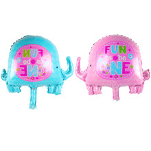 new 1-year-old elephant film foil balloon wedding banquet baby birthday party decoration balloon(China)
