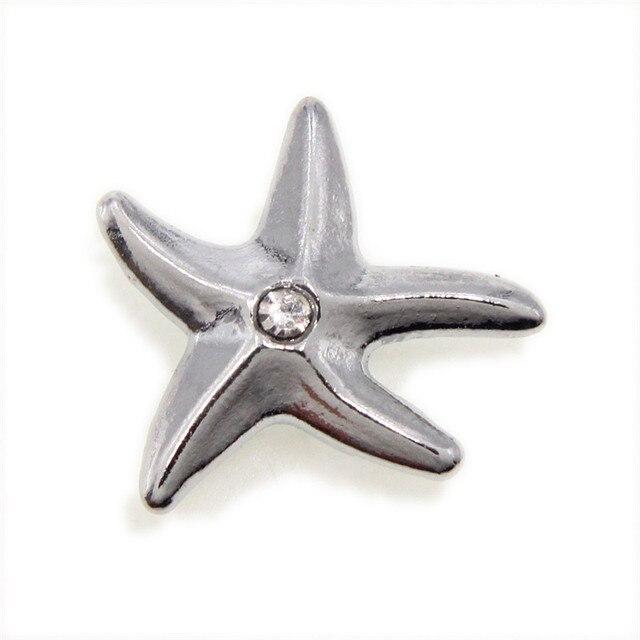 10pcs SL515 Pretty Starfish Internal Dia. 10mm slide Charms fit 10mm  wristband pet collar key chain Jewelry Finding e1fbe4c14df6
