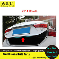 Stainless Steel Rear Trunk Lid Cover Trim 2014 2016 For Toyota Corolla High Quality Chrome Stickers