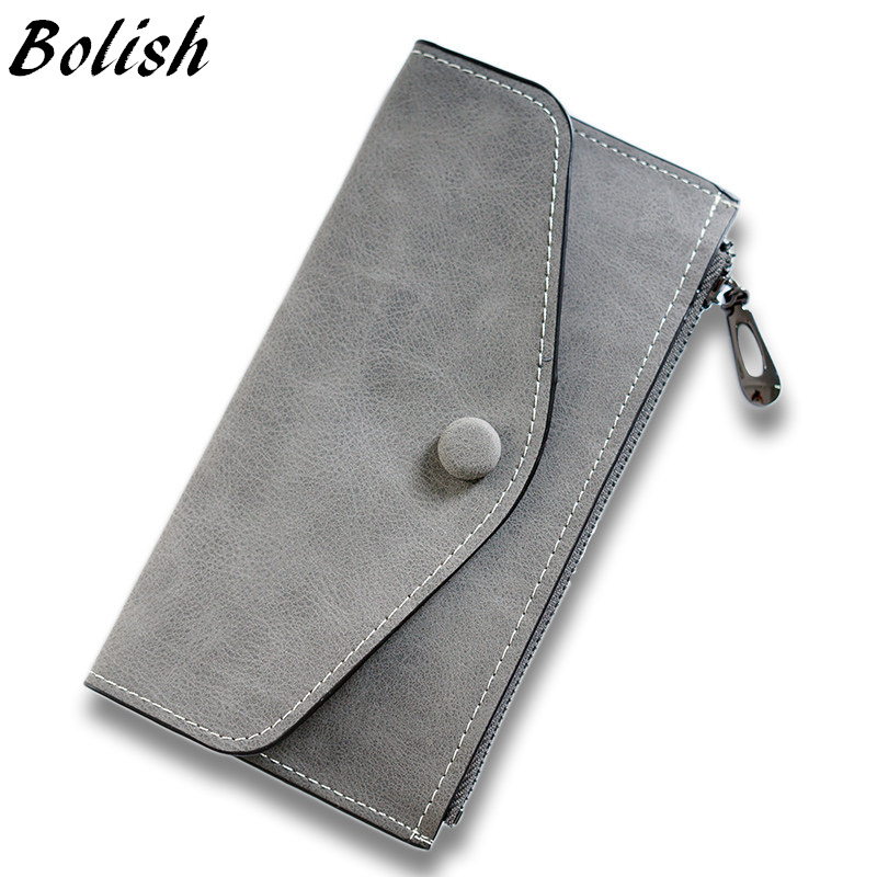 Bolish New Korean Women Mini Wallet Zipper Bag Vintage Wallet Purse Fashion Card Package Phone Bag