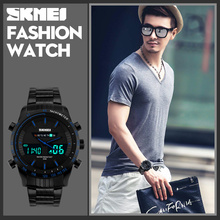 Full Steel material Men Sport Watch Dual Time Watches Fashion Outdoor Militay Watches