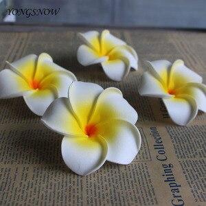 Image 4 - 10 개/몫 Plumeria 하와이 PE 거품 Frangipani 인공 꽃 머리 장식 꽃 계란 꽃 웨딩 장식 파티 용품