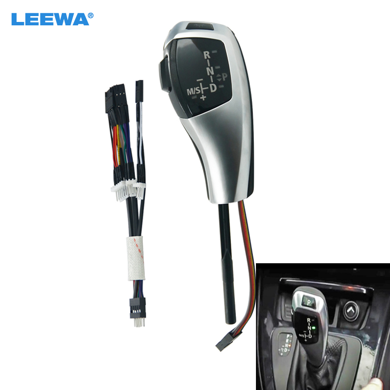 LEEWA Upgrade To LHD LED Electronic Gear Shift Knob For BMW E46 2D Facelifted/E46 4D Pre facelift & Facelifted #CA5814