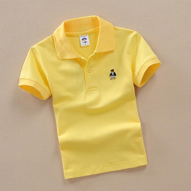44de85414 2018 New Children Kids Polo Shirts Solid 2018 Short Sleeve Summer ...