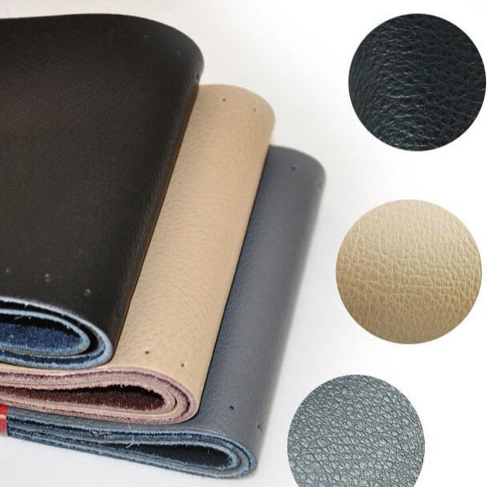 RDF Car-Styling Store Black Gray Beige DIY Leather Anti-slip Car Steering Wheel Cover With Needles and Thread Auto Accessories