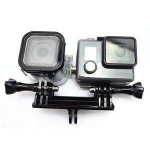 Image 3 - محوّل كاميرتان قاعدة تثبيت بحامل مزدوج مهايئ حامل Monopod لـ Gopro Hero7 6 5 جلسة 4 3 + 3 Xiaomiyi
