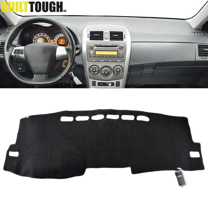 For Toyota Corolla E140/E150 2006 2007 2008 2009 - 2013 Dashmat Dash Mat Dashboard Cover Pad Sun Shade Dash Board Cover Carpet