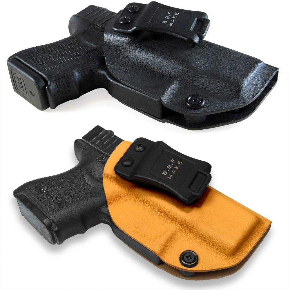 B.B.F Make IWB Tactical KYDEX Holster Fits: Glock 26 Glock 27 33 Gun Holster Inside Concealed Carry Waist Pistol Case Accessorie