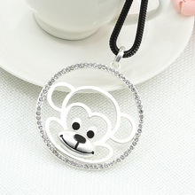 The New South Korean high-grade Zodiac monkey cute alloy long paragraph sweater chain necklace Z3212 year of fate