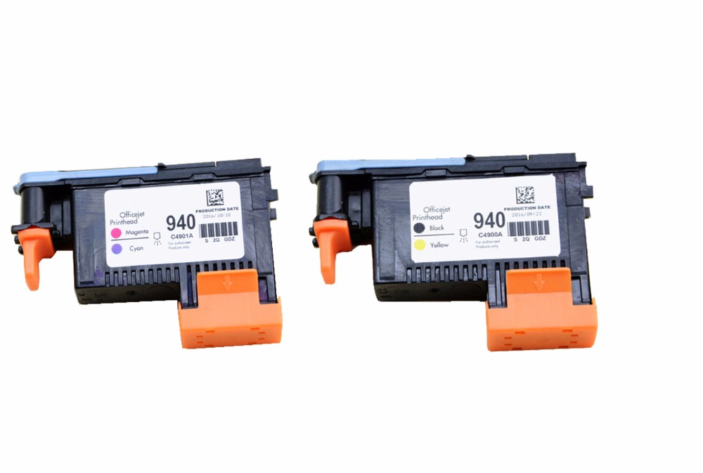 einkshop 1Set Print head for HP940 C4900A C4901A for HP 940 Printhead for HP940 officejet pro 8000 8500 8500A 8500A plus printer ink cartridge for hp 940 940xl officejet pro 8500 plus e all in one a910g 8500a premium a910n a910d a910k inkjet printer free
