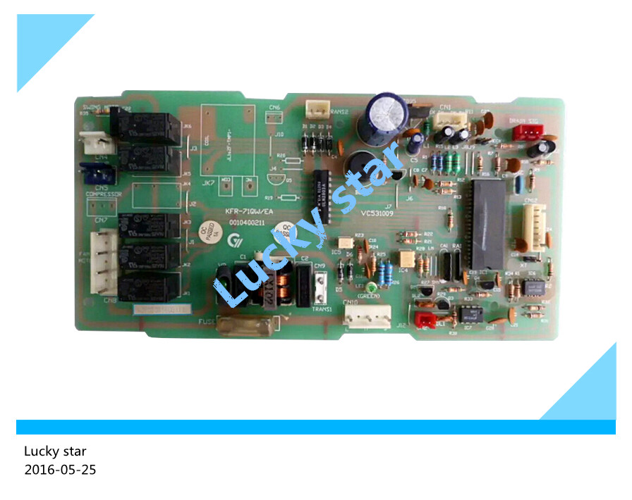 95% new for Haier Air conditioning computer board circuit board KFR-71QW/EA 0010400211 good working 95% new for haier refrigerator computer board circuit board bcd 198k 0064000619 driver board good working