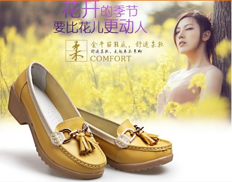 Spring Autumn 2014 women s shoes genuine leather breathable shoes swing female shoes platform nurse work