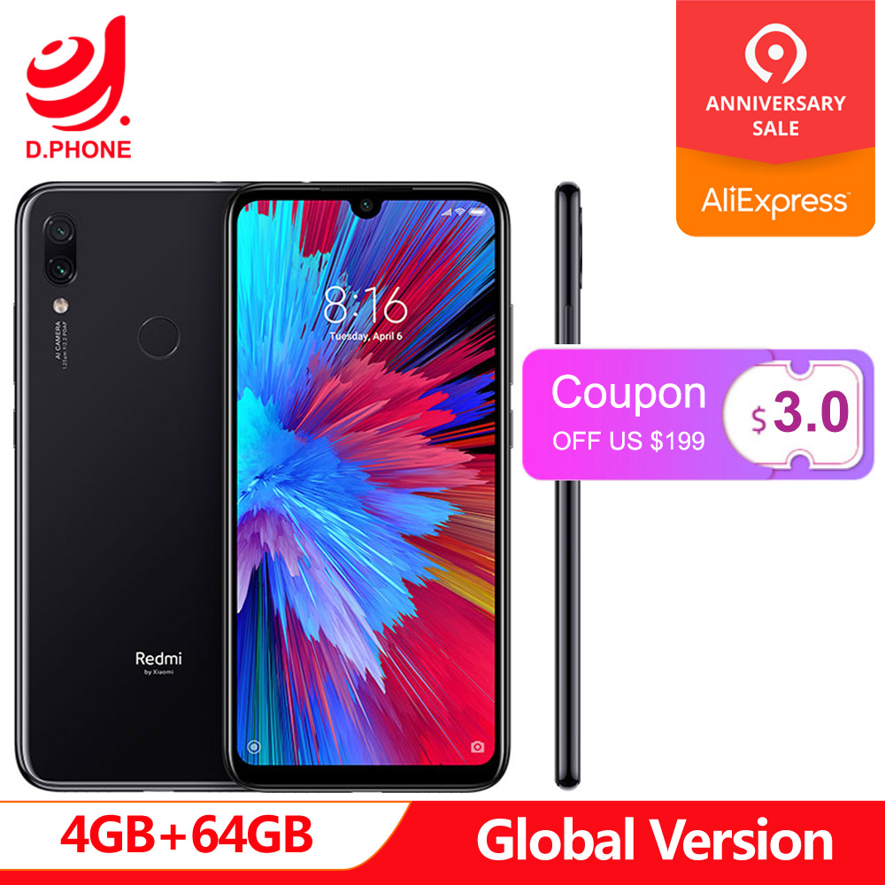 Global Version Xiaomi Redmi Note 7 4GB 64GB Snapdragon 660 AIE Octa Core 6.3 19.5:9 Full Screen 48MP Rear Camera CellphoneGlobal Version Xiaomi Redmi Note 7 4GB 64GB Snapdragon 660 AIE Octa Core 6.3 19.5:9 Full Screen 48MP Rear Camera Cellphone