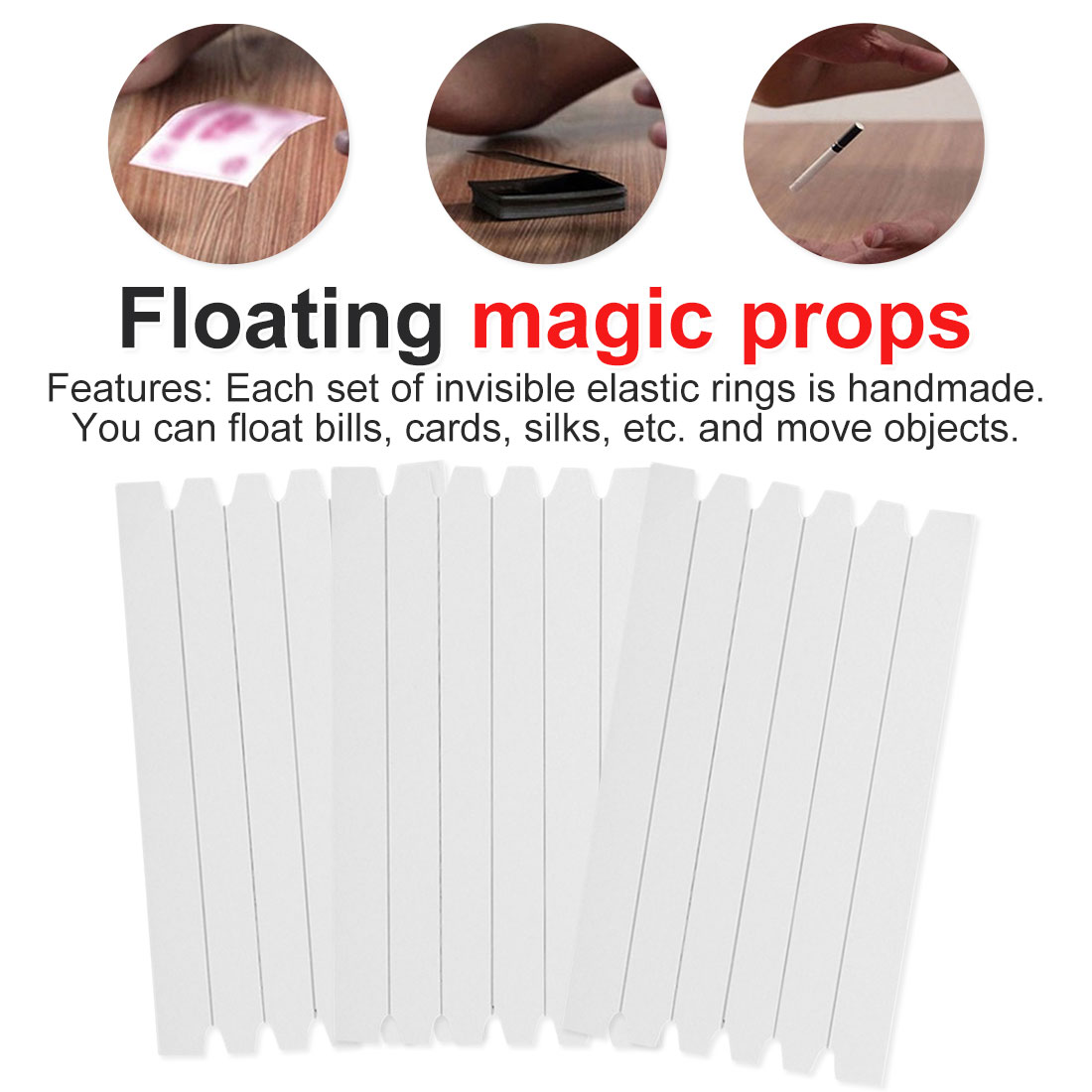 Magic Performing Props Funny Stretch Invisible Line Hidden Coil Thread Loops Haunted Magic Trick Float Magic Secret