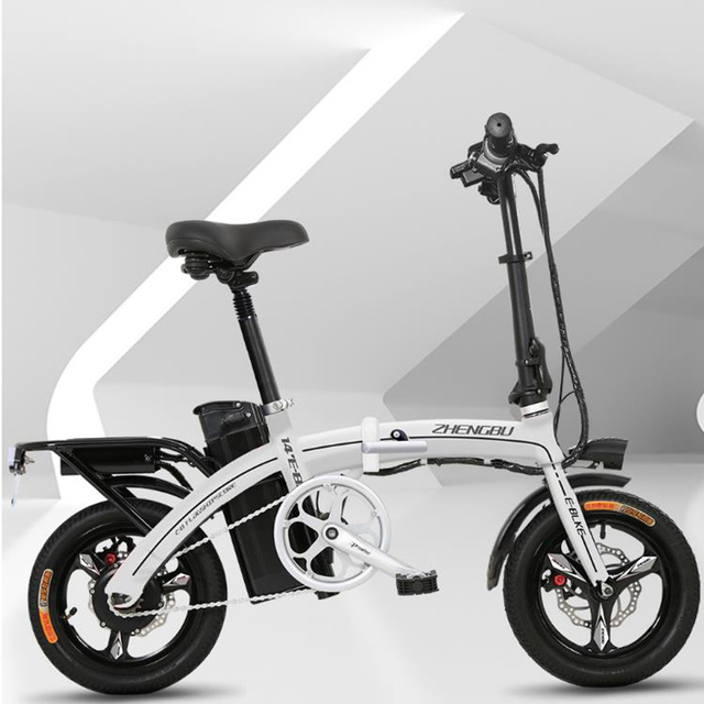 08698c3834e New folding electric bicycle Small adult male and female mini generation  driving lithium battery battery car