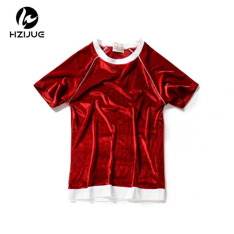 a1b1e6b5c ... HZIJUE Summer 2018 Short Sleeve Crushed Velvet T-shirt Casual mens Hip  Hop Tee Shirts ...