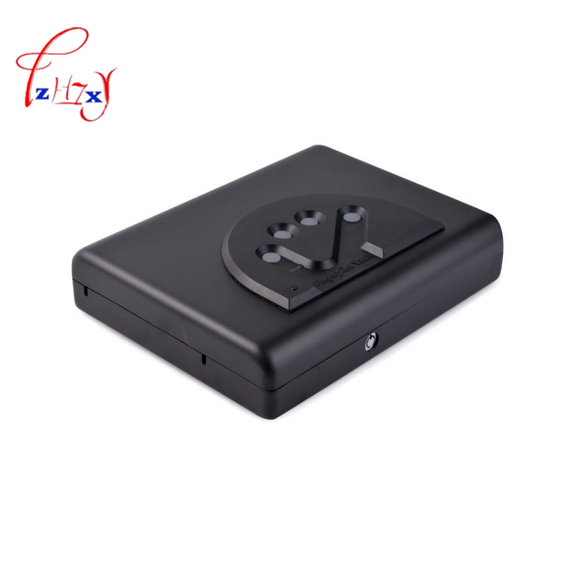 цена Fingerprint Safe Box Solid Steel Security Key Lock Safes box For Money Valuables Jewelry Cash gun car safe Pistol Security Box