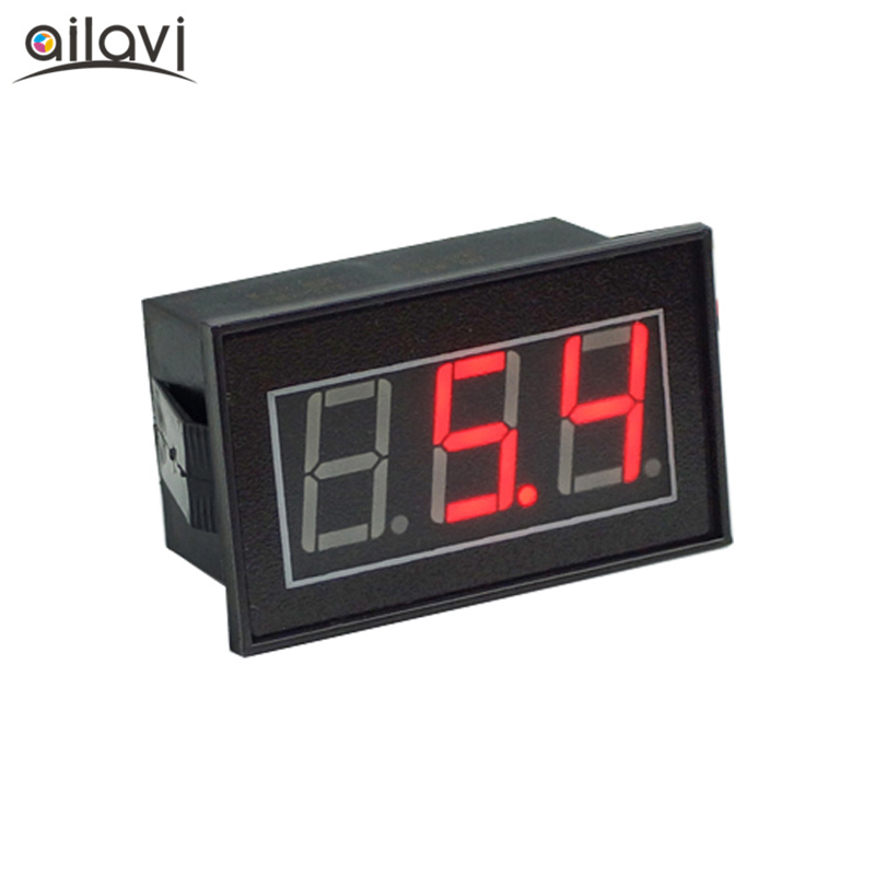 Voltage Meters Tools Dc 0-100v 5/9/12/24v 4-wire 3-bit 0.56 Red Led Display Tube Potting Waterproof Digital Voltmeter Head V56d