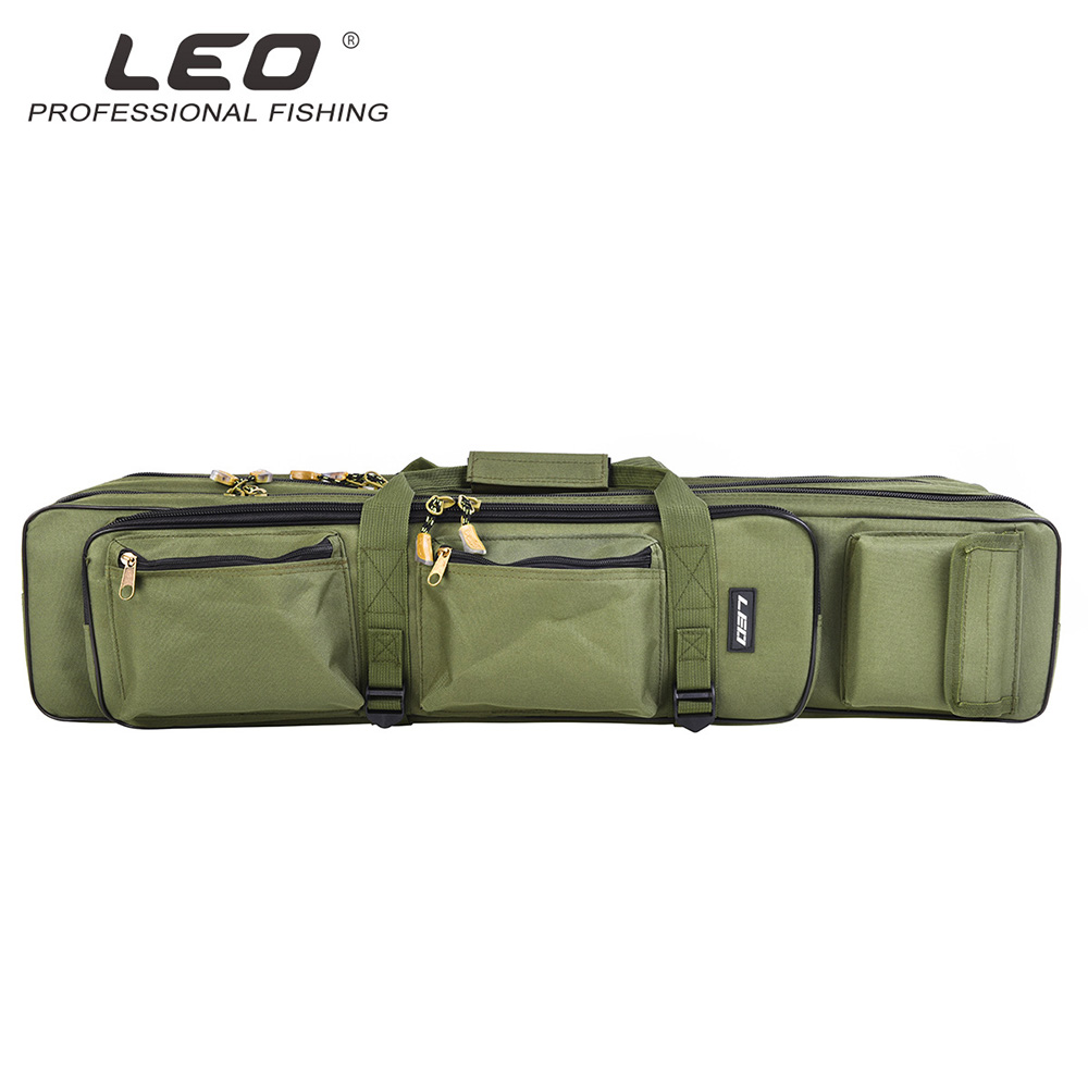 Fishing Bag Pesca Foldable Fishing Rod Carrier Backpack Fishing Tackle Bag Portable 3 Layers Vissen Accessory