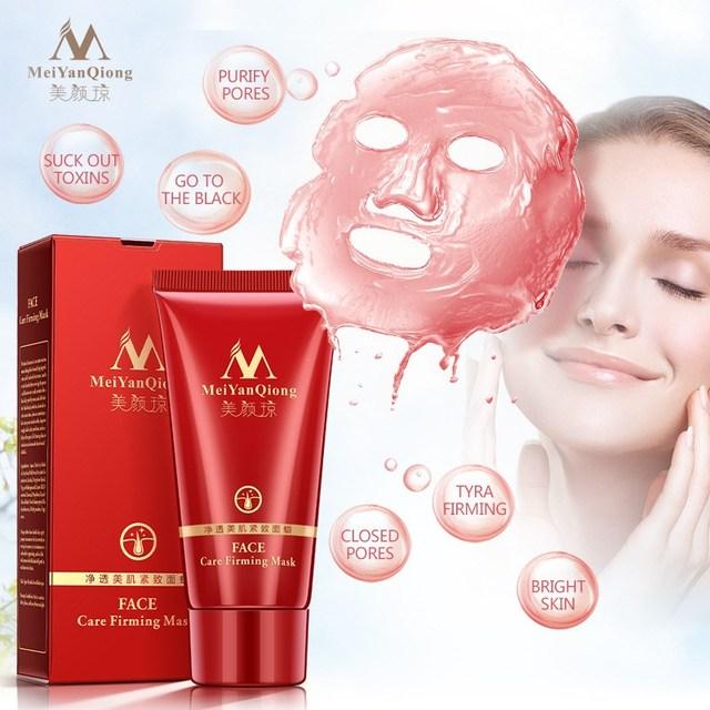 MeiYanQiong Peel Off Máscara Facial para o Rosto de Limpeza Profunda Removedor de Cravo Acne Removedor de Cravo Máscara de Morango cuidados Faciais