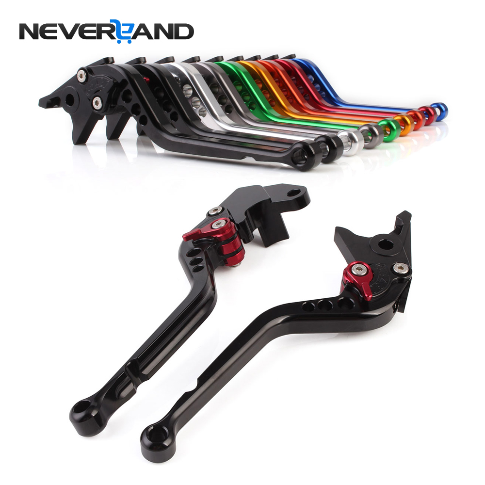 NEVERLAND CNC Long Adjuster Brake Clutch Levers For Suzuki GSXR 1000 600 750 GSR 750 600 DL650/V-STROM TL1000S SFV650 GLADIUS for suzuki gsr 750 600 400 motorcycle accessories cnc billet aluminum short brake clutch levers