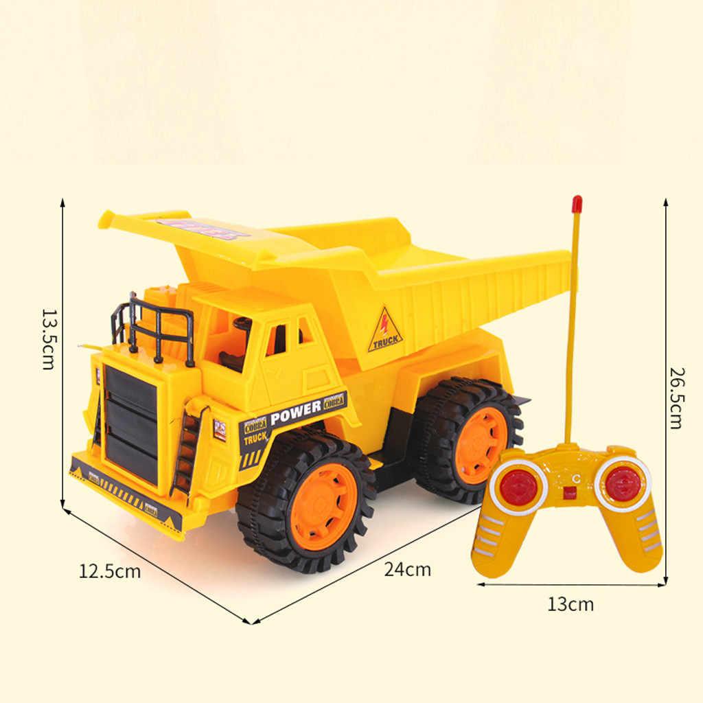 Hiinst RC Mainan 4CH Remote Control Truk Besar 5 Fungsional Dimuat Pasir Kendaraan Mainan 19APR26 P35