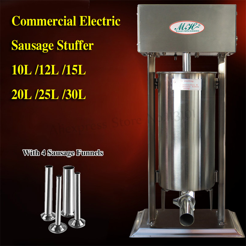Automatic Sausage Stuffer 15L Churros Machine Sausage Salami Meat Extruder Eletric Spanish Churro Filling Machine Restaurants