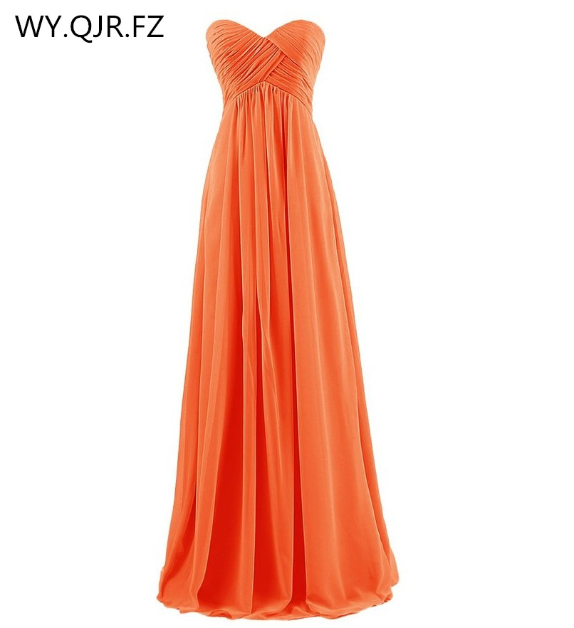 QNZL73#The new 2017 autumn winter navy Strapless Orange   bridesmaids     dresses   Long bride wedding toast   dress   wholesale custom