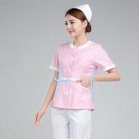 Viaoli Pink Medical Gowns Front Desk Nurse Uniforme Clinico Medical Uniform Uniform Beauty Salon Work Dress