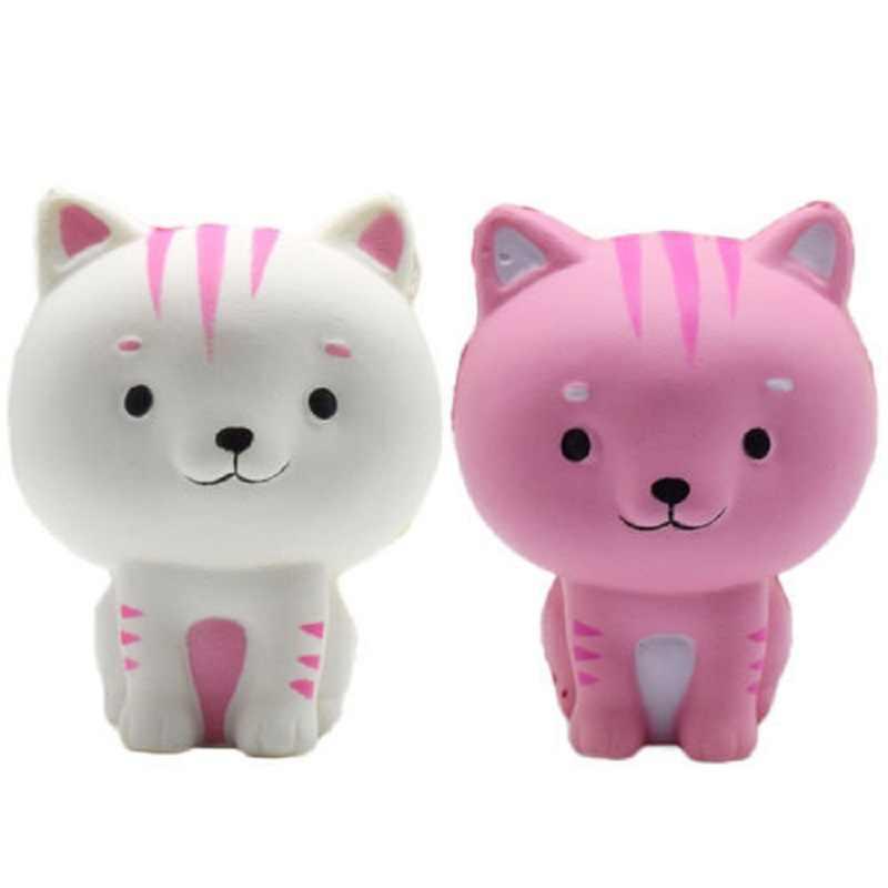 만화 고양이 Squishy 느린 상승 전화 스트랩 귀여운 새끼 고양이 소프트 짜기 빵의 매력 향기로운 아이 장난감