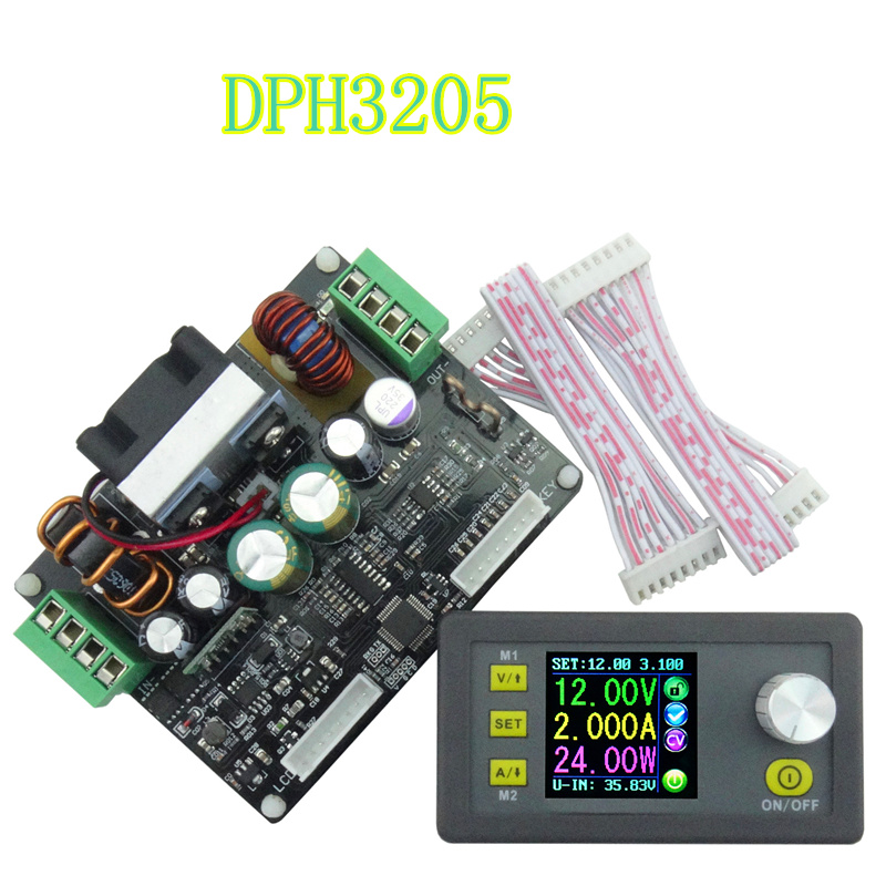 New Arrival DPH3205 voltmeter 160W  color LCD analog Digital Control Buck-Boost Supply Power Constant Voltage current  6%off dph3205 digital control power supply buck boost converter constant voltage direct current programmable lcd voltmeter