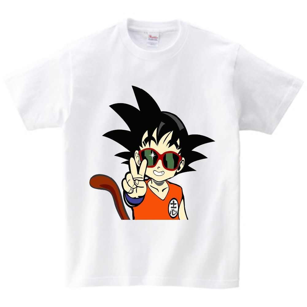 2019 Новая летняя одежда для мальчиков и девочек веселые футболки Goku для детей «Жемчуг дракона» футболки для детей для маленьких мальчиков, Детские хлопковые топы Костюмы возрастом от 2 до 14 лет NN