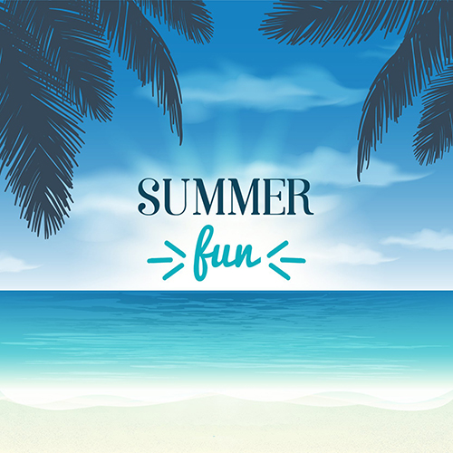 Blue Sky Cloud Leaves Summer Beach Background Vinyl cloth High quality Computer printed wall backdrops