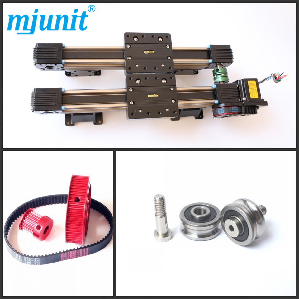 MJUNIT Direct Drive Linear Motor Actuator Linear Guide Rail toothed belt drive motorized stepper motor precision guide rail manufacturer guideway