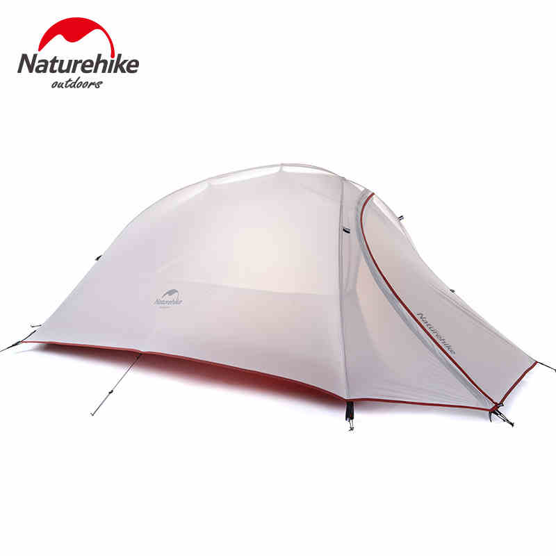 4 seasons Outdoor Portable Double-layer Camping Tent Camouflage for 1 Person Lightweight Waterproof PU8000mm -NatureHike 2