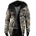 2016 Soft Shell Parka Mens Winter Jackets and Coats Warm Thick Zipper Army Green Camouflage Hooded Men Winter Jacket