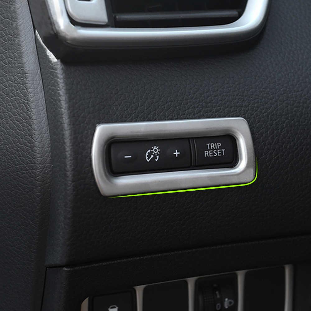 Для Nissan Rogue Sport Qashqai Rogue x-Trail 2014 2015 2016 2017 хромированная приборная панель одометр кнопка переключатель Крышка отделка украшения