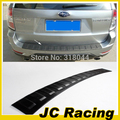 Top Quality preto PU Rear Bumper plate, Car Rear Bumper guard Para subaru (Apto Para subaru forester 09-12)
