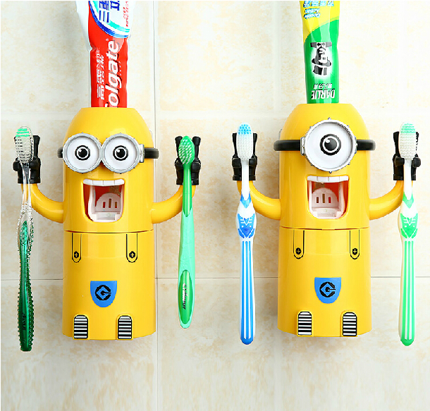 Household Children Toilet Requisites Minion Toothpaste Dispenser Best Birthday Gift For Boy Girl Friends