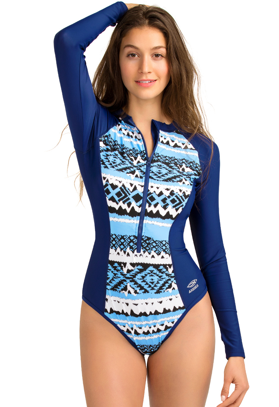 533c5e4d21 Details about AXESEA 2019 New Long Sleeve Rash Guard Diving Surf One Piece  Swimsuit Women