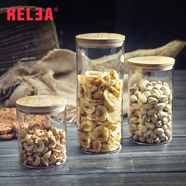 450ml Kitchen Storage Bottle Jar Food Ingredient Eco-friendly Store Nut Grain Candy Biscuit Refrigerator Classification R0035