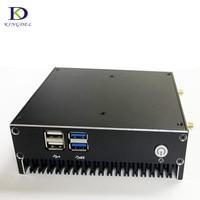 Бесплатная доставка DDR4 безвентиляторный мини ПК Core i7 7500U компьютер 7th Процессор Core i5 7200U Celeron 3865U с HDMI VGA 4 * USB3.0 неттоп HTPC