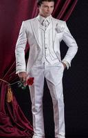ホット販売チャコールグレーウェディングベストとパンツ用男性スリムフィットメンズ結婚式タキシードデザイナーメンズスーツ(ベスト+パンツ+ネクタイ)