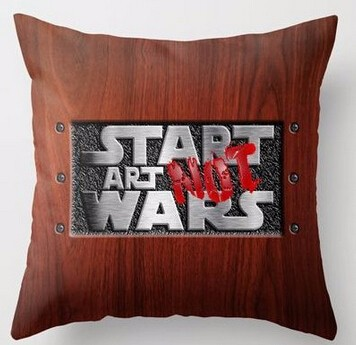 Hot Sale Luxury Printing Customized Start Art Not Wars Funny Square Throw Pillowcase Home Decorative Zippered Cushion Cases