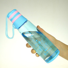 Cute Floral Patterned Eco-Friendly Plastic Water Bottle