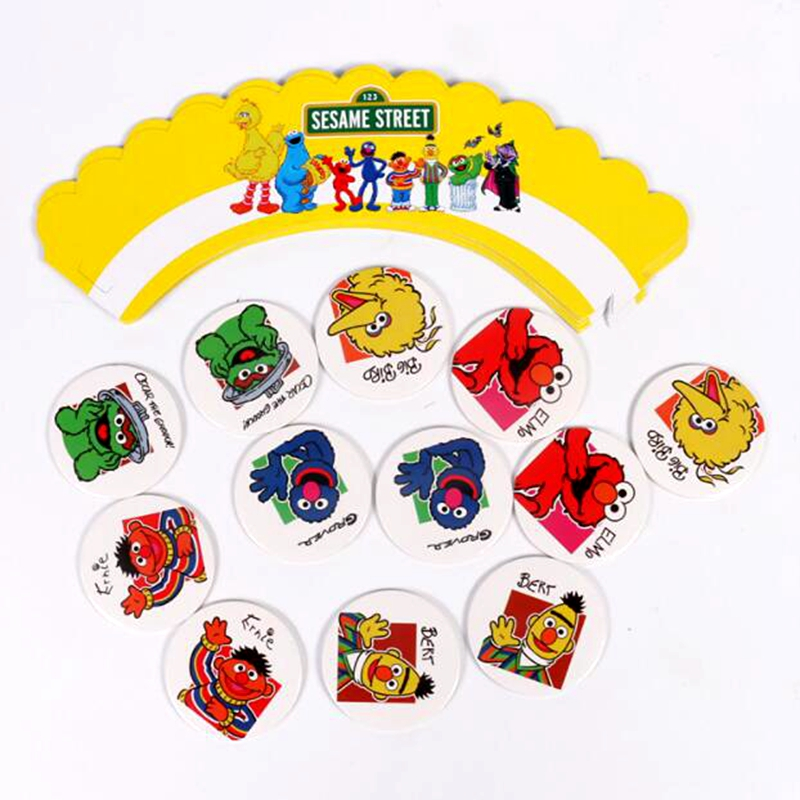 24pcs Cartoon Sesame Street Elmo animals Cupcake Wrappers Toppers Cute  decoration kids baby birthday wedding party supplies gift