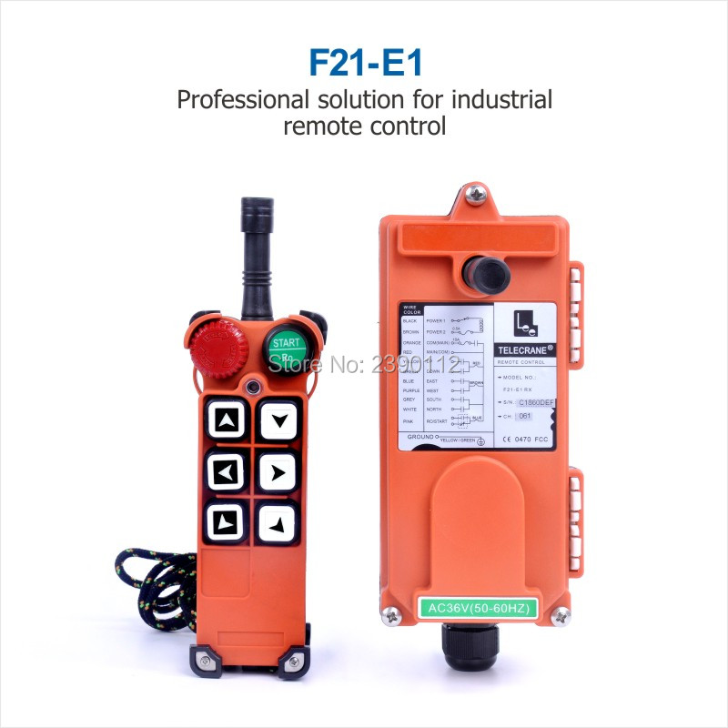Wholesales Industrial winch TELEcrane Crane Remote Control F21-E1 36V 220V 380V 1 Transmitter 1 Receiver for Hoist Crane wholesales f21 e1 industrial wireless universal radio remote control for overhead crane ac48v 1 transmitter and 1 receiver