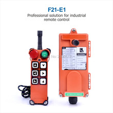 Wholesales Industrial winch TELEcrane Remote Control F21-E1 36V 220V 380V 1 Transmitter 1 Receiver for Hoist Crane industrial wireless radio remote control f21 4d for hoist crane 2 transmitter and 1 receiver